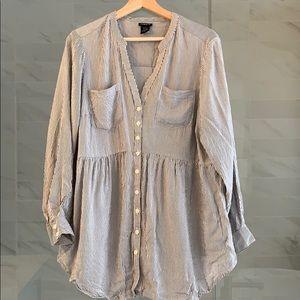 Torrid striped blouse